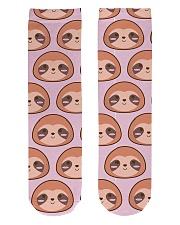 Sloth Crew Socks Crew Length Socks front