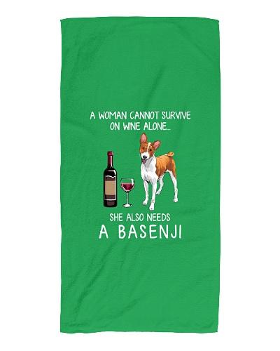 Funny Basenji mom and wine T-Shirt