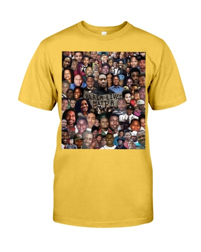 Black Lives Matter with all victims t-shirt