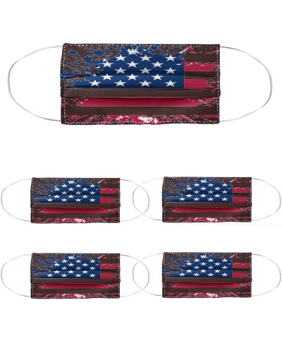 American flag splatter cloth face mask