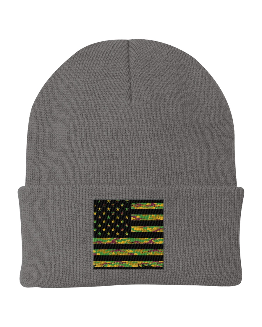 Camouflage Face Mask American Flag Mask -  Knit Beanie