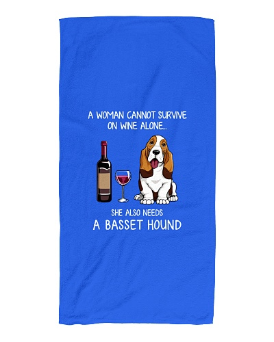 Funny Basset Hound mom and wine T-Shirt