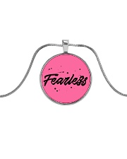 Fearless Metallic Circle Necklace thumbnail