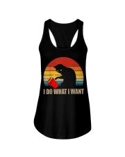 Funny Cat T-shirt Ladies Flowy Tank thumbnail