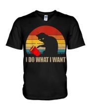 Funny Cat T-shirt V-Neck T-Shirt thumbnail