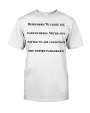 Best Funny Gift For Writers Classic T-Shirt thumbnail