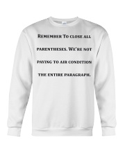 Best Funny Gift For Writers Crewneck Sweatshirt thumbnail