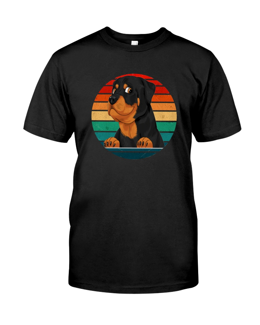Retro Vintage Rottweiler Classic T-Shirt