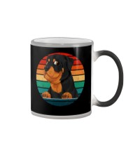 Retro Vintage Rottweiler Color Changing Mug tile
