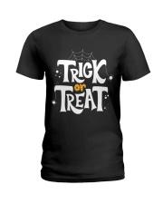 Halloween Shirts Trick or Treat Ladies T-Shirt thumbnail