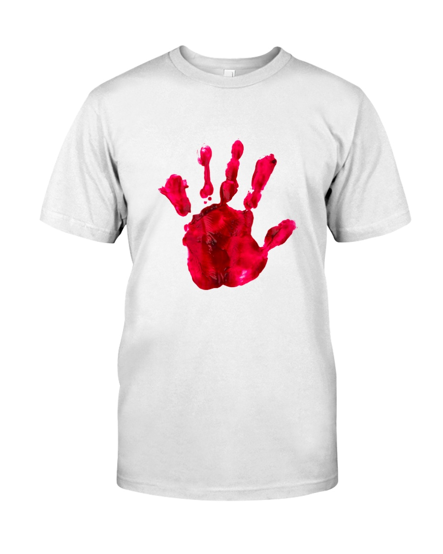 Halloween T shirts Bloody Hand Classic Classic T-Shirt