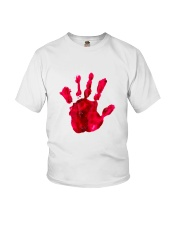 Halloween T shirts Bloody Hand Classic Youth T-Shirt thumbnail