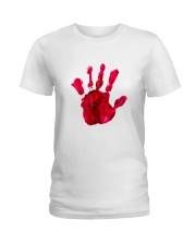 Halloween T shirts Bloody Hand Classic Ladies T-Shirt tile