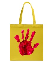 Halloween T shirts Bloody Hand Classic Tote Bag thumbnail