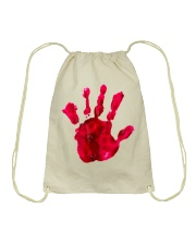 Halloween T shirts Bloody Hand Classic Drawstring Bag tile
