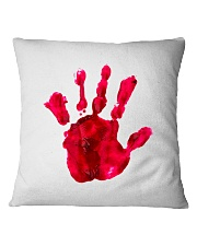 Halloween T shirts Bloody Hand Classic Square Pillowcase thumbnail