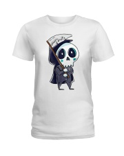 Halloween T shirts Funny Skeleton Ladies T-Shirt thumbnail