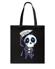 Halloween T shirts Funny Skeleton Tote Bag thumbnail