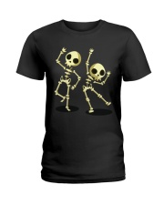 Halloween T shirts Dancin Skeleton Classic T-Shirt Ladies T-Shirt tile