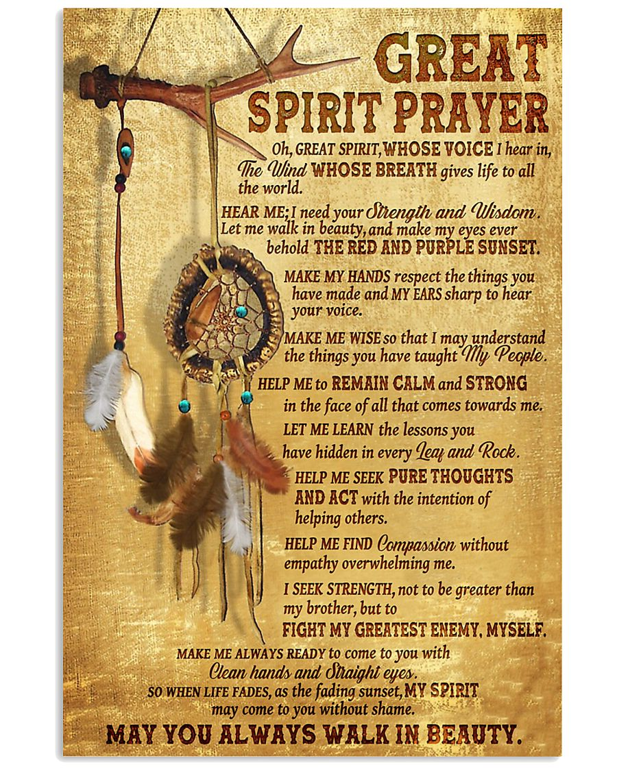 Great spirit prayer may you always walk in beauty poster