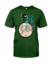 WORLD MAP BIKE  Classic T-Shirt thumbnail
