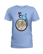 WORLD MAP BIKE  Ladies T-Shirt thumbnail