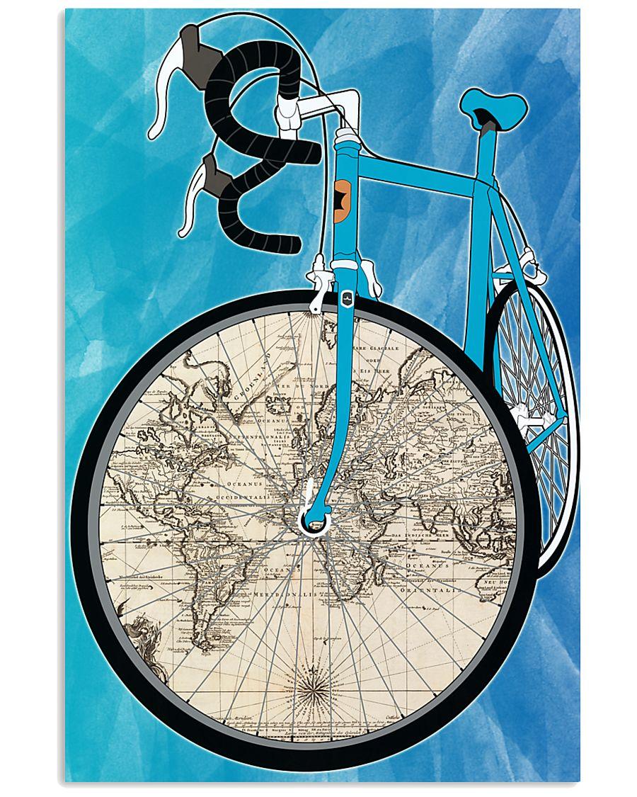 WORLD MAP BIKE  11x17 Poster