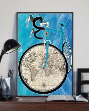 WORLD MAP BIKE  11x17 Poster lifestyle-poster-2