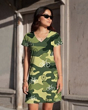 Cycling Camouflage  All-over Dress aos-dress-front-lifestyle-1