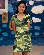 Cycling Camouflage  All-over Dress aos-dress-front-lifestyle-2