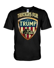 Truckers for Trump V-Neck T-Shirt thumbnail