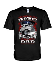 The most important call me dad V-Neck T-Shirt thumbnail