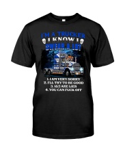 I know I swear a lot Classic T-Shirt front