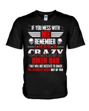 BEST T-SHIRT FOR BIKER'S DAUGHTER V-Neck T-Shirt thumbnail