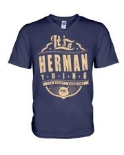 HERMAN THING V-Neck T-Shirt thumbnail