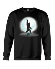 Funny bigfoot rock and roll under the moon Crewneck Sweatshirt thumbnail