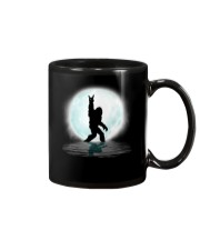 Funny bigfoot rock and roll under the moon Mug thumbnail