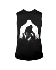 Bigfoot Disc golf in the forest Sleeveless Tee thumbnail