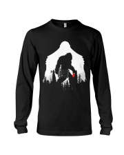 Bigfoot Disc golf in the forest Long Sleeve Tee thumbnail