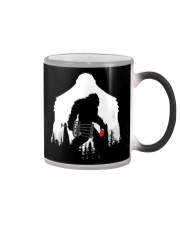 Bigfoot Disc golf in the forest Color Changing Mug thumbnail