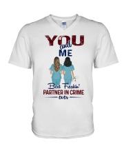 You and me - Nursing partner in crime V-Neck T-Shirt thumbnail