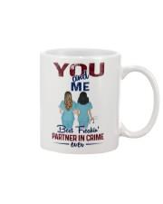 You and me - Nursing partner in crime Mug front