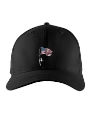 Fishing rod American flag uyen Embroidered Hat front