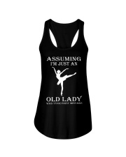 ballet assuming Ladies Flowy Tank thumbnail