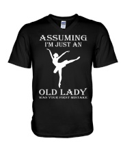 ballet assuming V-Neck T-Shirt thumbnail