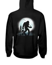 Bigfoot go fishing two side Hooded Sweatshirt back