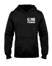 Bigfoot go fishing two side Hooded Sweatshirt front