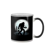 Bigfoot go fishing two side Color Changing Mug thumbnail