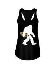 Bigfoot with Morel Mushroom Ladies Flowy Tank thumbnail