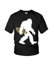 Bigfoot with Morel Mushroom Youth T-Shirt thumbnail